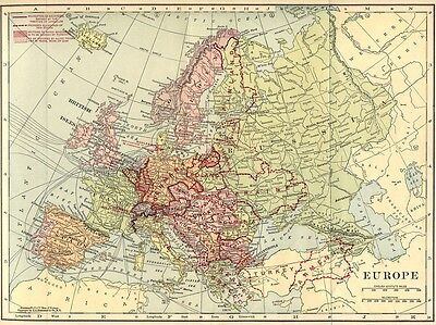 1921 Europe map showing proposed new countries - Canada in the Great World War