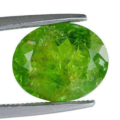 4.97Cts Natural Tsavorite Garnet Yellow Green Color Faceted Oval Gemstone