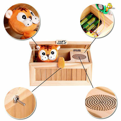 Wooden Useless Box Leave Me Alone Box Most Useless Dont Touch Tiger Toy Gift