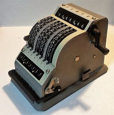 Antique Calculator Adding Machines Handcrafted Out Of Germany by TOWER BRAND