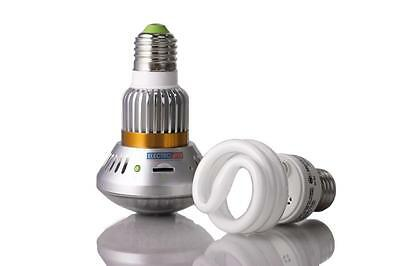 Motion Detect Outdoor Camera Light Bulb Nightvision Security Camcorder