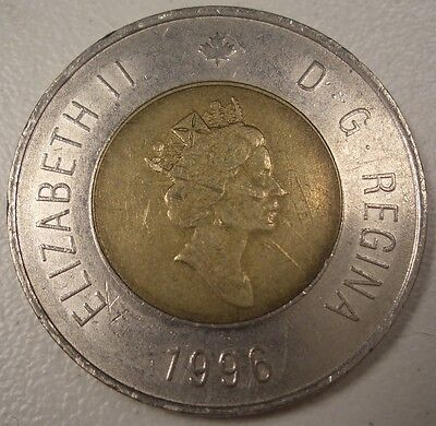 1996 Canada $2 Dollars Coin Real Currency  Twoonie
