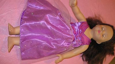 "2010 Madame Alexander 18"" Vinyl & Cloth Doll Brunette with Brown Eyes Sweet Face"