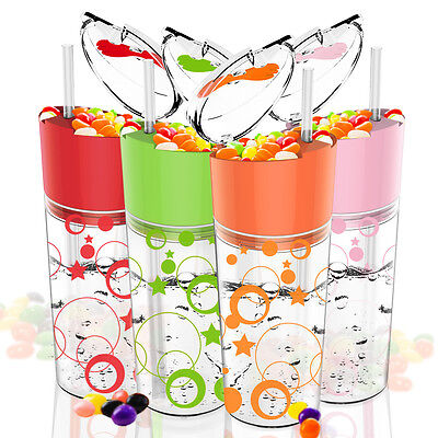 AVOIN colorlife 2-in-1 Snack & Drink Cup with Straw & Plastic Fork - 550ml