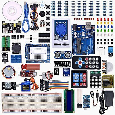 Weikedz UNO R3 Desktop Barebones Project Complete Starter Kit with Lesson CD R3,