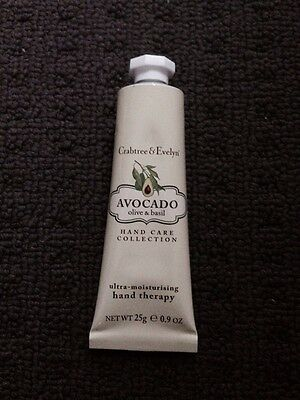 Brand New ~ Crabtree & Evelyn ~ Avocado , Olive And Basil Hand Therapy ~ 25G