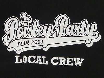 BRAD PAISLEY The Paisley Party 2009 LOCAL CREW Tour T-shirt XL