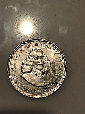 South Africa 50 cents silver 1962 prooflike