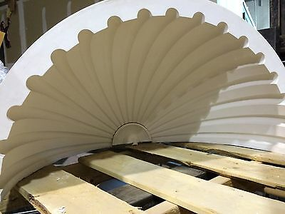 2 Fluted NICHE CAP SHELLS (Handmade) Absolute Spectacular! Achitectural Plaster