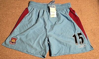 Vintage West Ham United Football Shorts - Bnwt Unworn - Reebok Home 2004-05