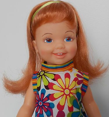 Vintage Ideal CINNAMON Crissy Doll wearing Cute Outfit & Original Shoes