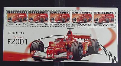 Stamps.  Ferrari.  5 Sheets. Different Countries
