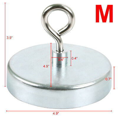 125mm RECOVERY MAGNET STRONG SEA FISHING, TREASURE HUNTING WITH EYELET