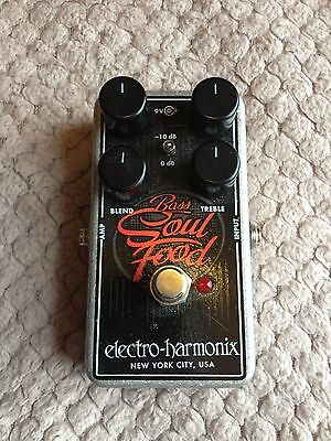 EHX Electro Harmonix Bass Soul Food Overdrive / Boost Pedal