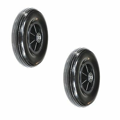 "8""x2""(200x50) Black Caster Wheels Assembly for Drive & Jazzy Wheelchair Set of 2"