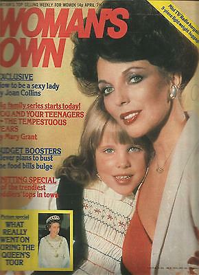 Woman's Own April 7th 1979 How To Be A Sexy Lady by Joan Collins