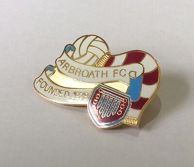 ARBROATH Badge Football Club Enamel Supporter Scarf Ball Pin Founded 1878 1 of 3