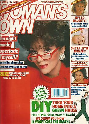 Woman's Own 12th June 1989 Joan Collins shares her most embarrassing secret