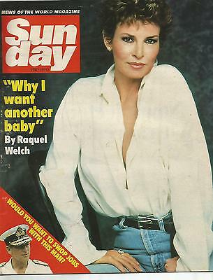 Sun Day June 9th 1985 Raquel Welch Why I Want Another Baby / Sam Fox