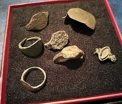 Roman Legion Bronze Rings Lot 100Bc-50Ad!!