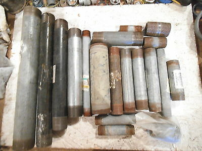 Mixed Lot Of Metal Pipe Nipples Mixed Sizes - New & Used