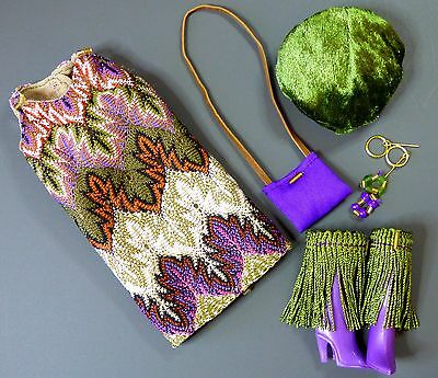 OOAK Silkstone Barbie Integrity Vintage Mod Fashion FRINGED FAB Clare's Couture