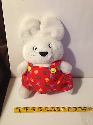 "Vintage Max n Ruby Bunny Plush 10.5"" Red Outfit 1997 Rosemary Wells"