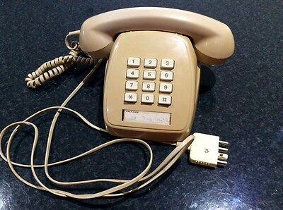 RETRO Telecom 1980 PUSH BUTTON TELEPHONE - Working Order !