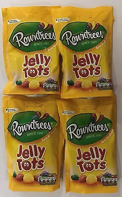 909343 4 x 150g BAGS OF ROWNTREES JELLY TOTS - LOVE TO SHARE! - SINCE 1881 - UK