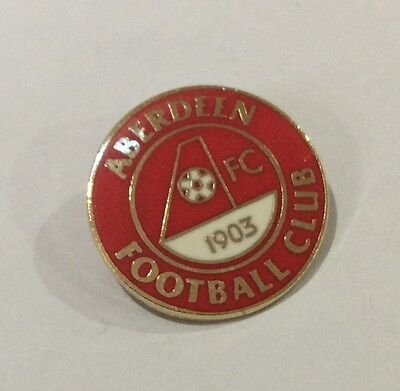 ABERDEEN Football Club FC Badge Enamel Supporters Pin CHRISTMAS PRESENT SCOTLAND