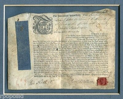 1749 King George Ii A Small Vellum Shopkeeper Apprentice Indenture