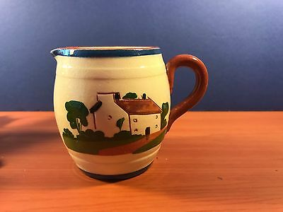 Super  Fun Vintage Devon Torquay Motto Ware Jug / Creamer Hand Painted