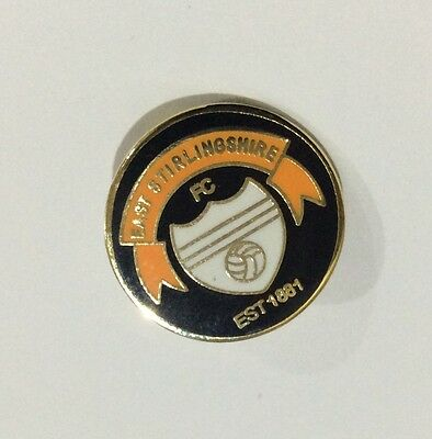 EAST STIRLINGSHIRE Football Club Badge FC Supporter Enamel Pin CHRISTMAS PRESENT