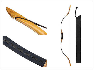 Longbowmaker Traditional Archery Hunting Recurve Bow Pigskin Longbow 40lb