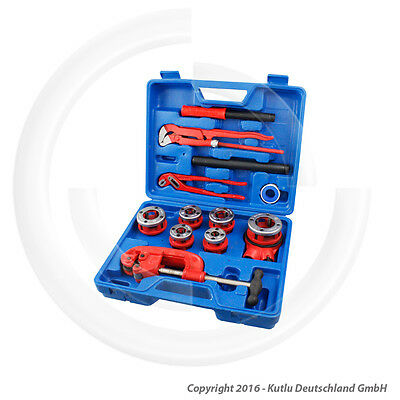 12 Pcs. Plumbers Threading Tools Kit For Pipes