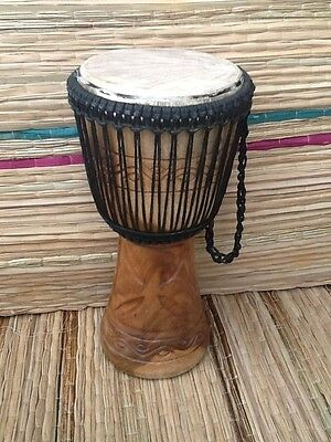 """Genuine Professional African Double Weave 9"""" Djembe Drum WITH HALF PRICE BAG"""