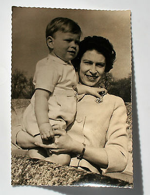 Postcard of The Queen an Prince Andrew