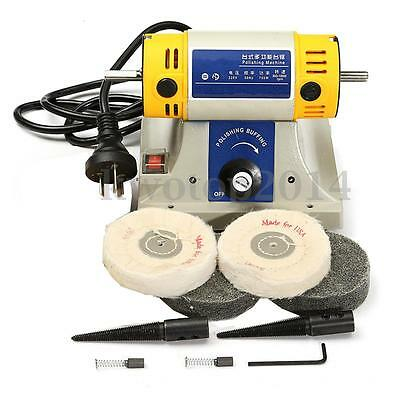 Jewelry Buffing Polishing Machine For Dental Lathe Motor Grinder w/ Accessories