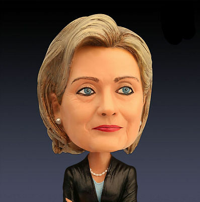 18cm Hillary Bobble Head 2016 Election Resin Technology Collectible Doll