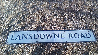 Vintage Aluminium Street Sign LANDSDOWNE ROAD Irish Rugby Interest