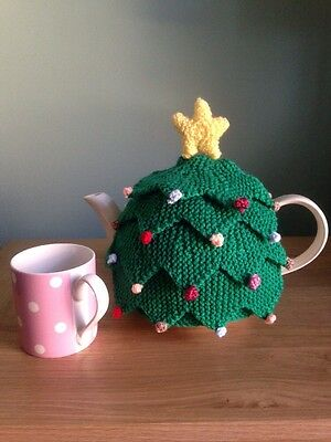 Hand Knitted Christmas Tree Tea Cosy