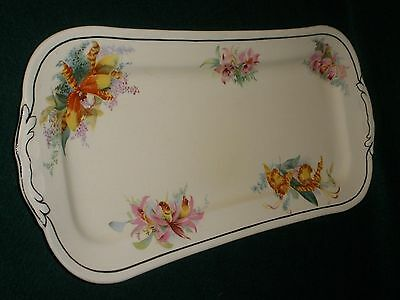 "VINTAGE Royal Doulton ENGLISH ""ORCHID D5215"" SANDWICH PLATE Very Good Condition"