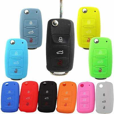 Key Bag Cover Silicone Key Portect Case Car Accessories For Volkswagen Skoda
