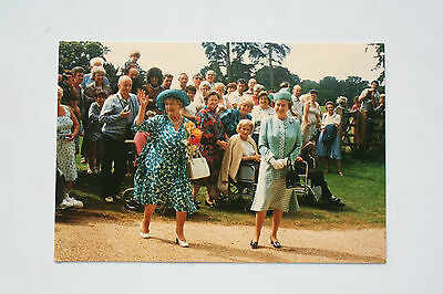 Postcard of The Queen Mother with The Queen