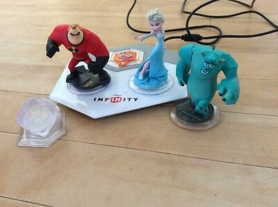 Disney infinity figures and plate