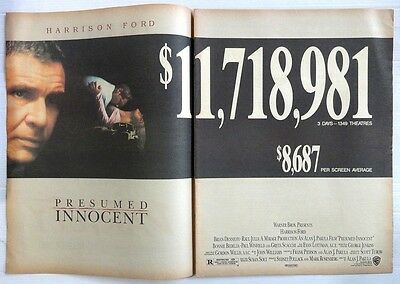 1990 VARIETY two page ad PRESUMED INNOCENT