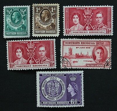 NORTHERN RHODESIA - SG1-2,22(x2),47,59 KGV, KGVI. Mounted Mint & Used.