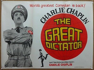 India Bollywood 1940 The Great Dictator 30'' x 40'' India poster Charles Chaplin