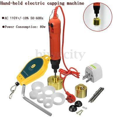 110V Handheld Electric Bottle Screw Capping Capper Cap Locking Sealing Machine