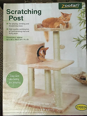 Zoofari Large Cat Scratching Post 60 x 80 x 39cm NEW